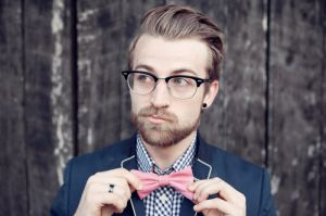 london hipster wearing browline glasses