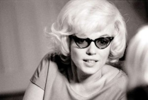 Marilyn Monroe Wearing Cat Eye Glasses